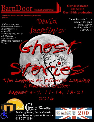 Ghost Stories, The Legend of Oliver's Landing, August 2016
