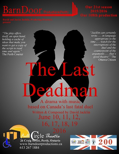 The Last Deadman, a drama with music, June 2016